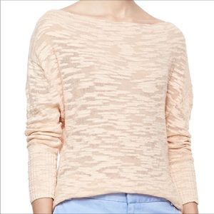 Alice & Olivia Burnout Peach Sweater Womens Large